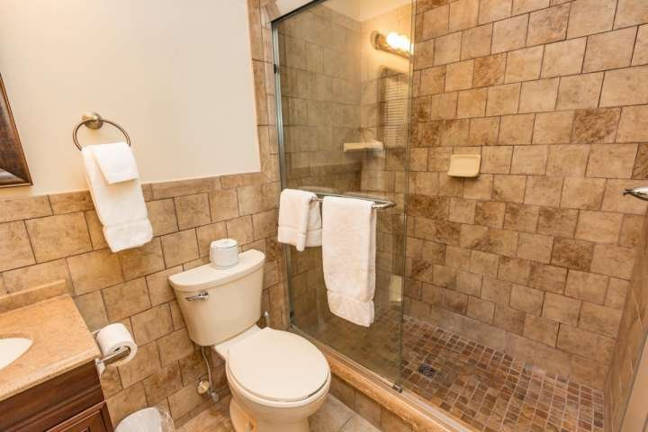 Large walk in shower, towels will be there when you arrive.
