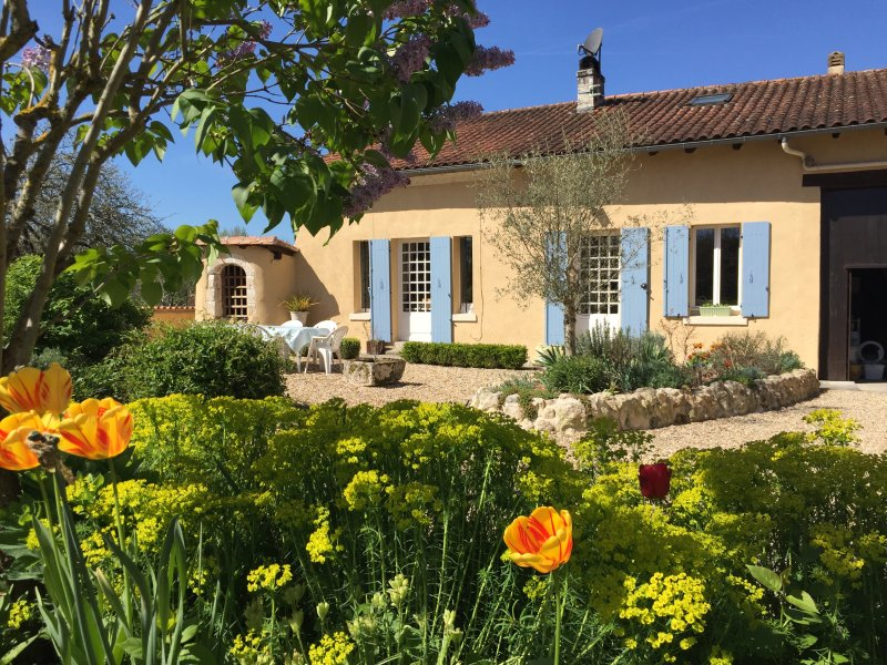 A Spring photo of La Maison and our pretty gardens