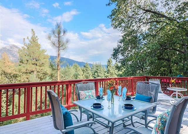 Enjoy the views from the spacious deck.