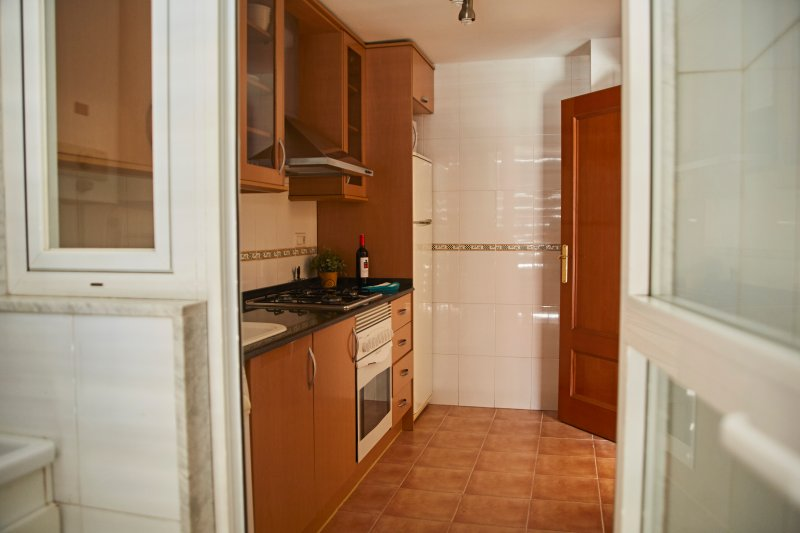 fully equipped kitchen with appliances. Fully Equipped with electrical appliances.