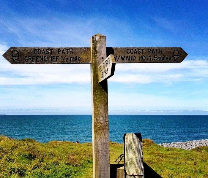 Right on the coast path