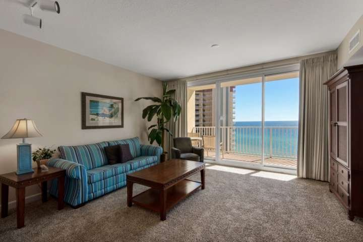 Enjoy Beautiful Views from this spacious living room.