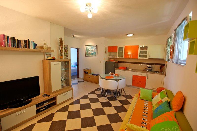 cuisine, salon et salle à manger