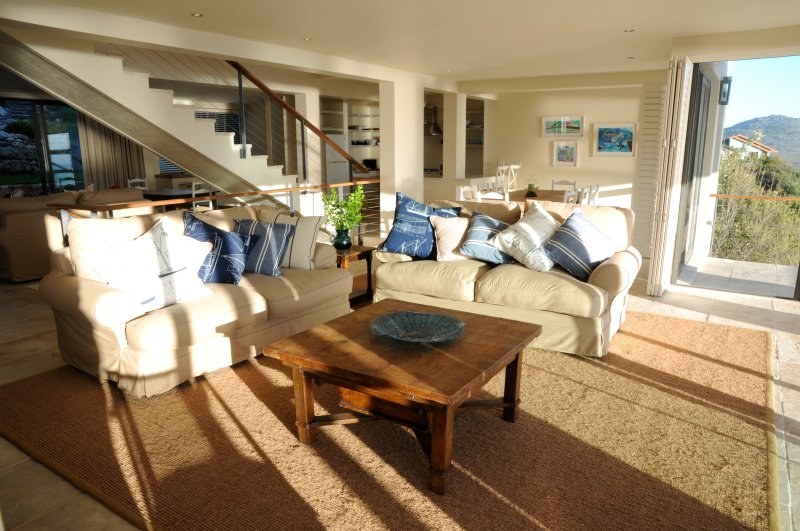 Living area in afternoon sun