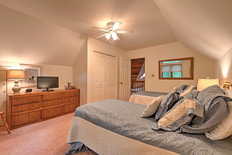 The twin beds can be converted into a king sized bed.