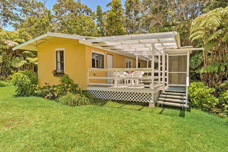 Tranquility awaits you at 'Halakea Hale,' a 2-bedroom, 1-bath vacation rental cottage which sleeps 4 in Volcano, Hawaii.