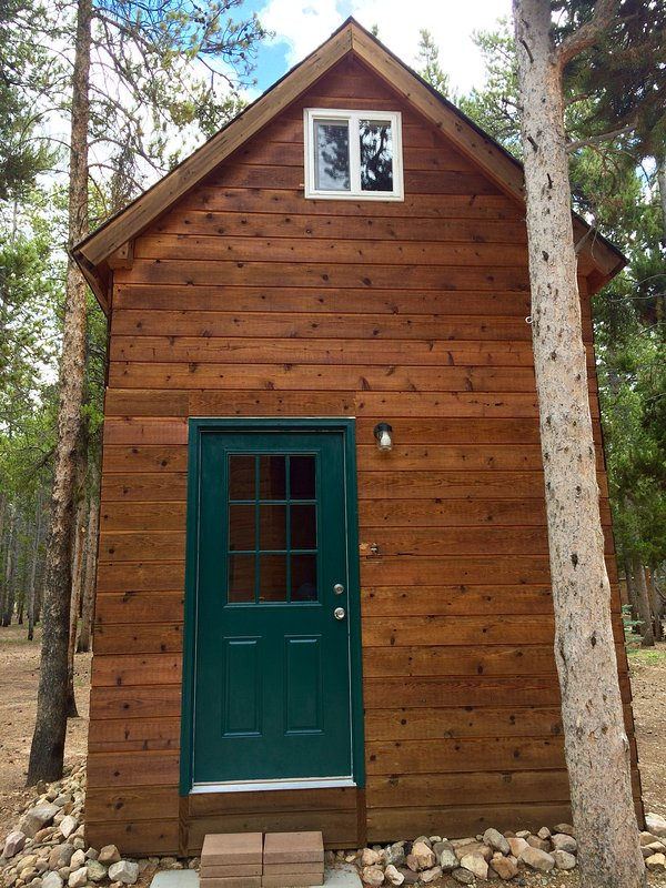 bunkhouse - additional room to spread out for a fee. There is a full bed, queen bed, and two twins.