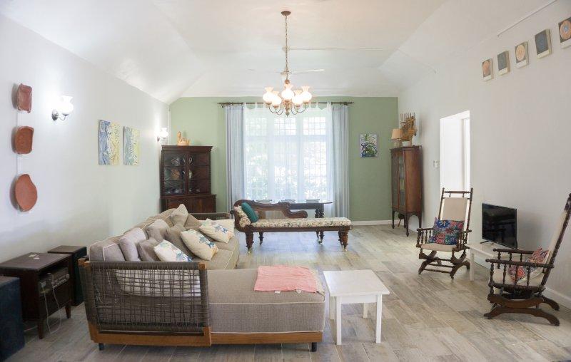 Comfortabele zithoek - (andere uiteinde van de voorste kamers)