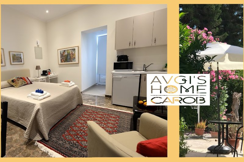 'Carob Studio Garden Apt.' at 'Avgi's Home'-A beautiful, Cozy, Elegant, Business redy Apartment