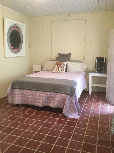 Queen-bedroom opens onto the main courtyard