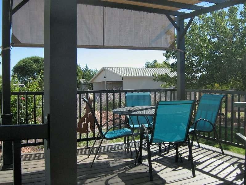 Back Deck with grill and fenced yard for kids & dogs