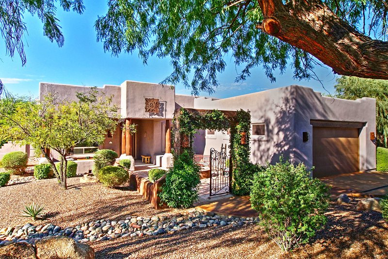 Elevate your Southwest retreat with this gorgeous Carefree vacation rental home!