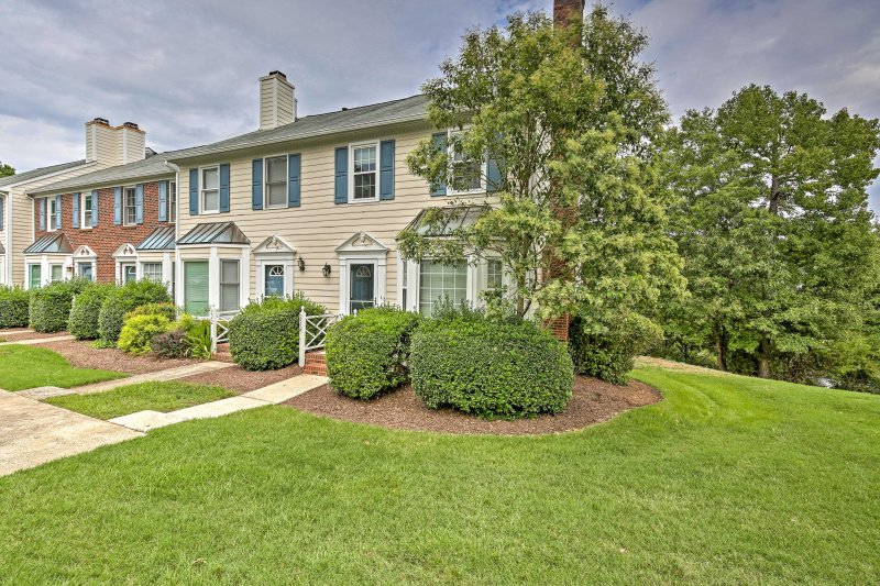 This Chapel Hill vacation rental is nestled in a peaceful neighborhood.