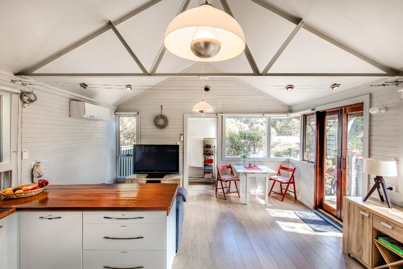 Light, open & airy – a delightful spot to come home to after a day of exploring. Pic:Quentin Chester