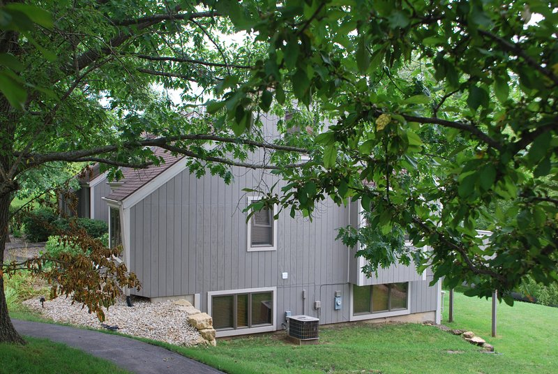 Side view of end unit townhouse.