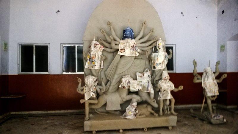 BHUBANBARI: una casa de 200 años con un DurgaTemple (Dalan / patio) en el corazón del norte de Calcuta