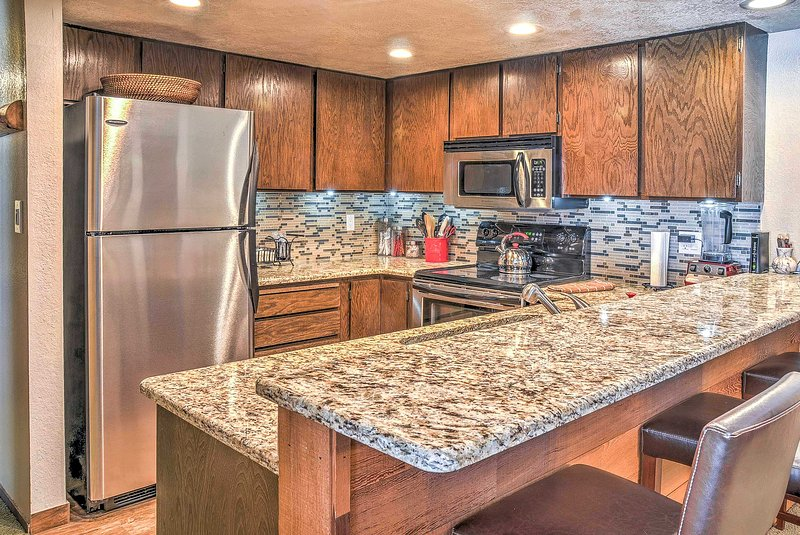 You'll love the modern kitchen of this Brian Head vacation rental condo!
