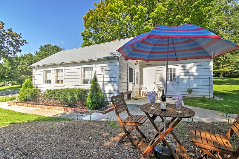 ¡Disfruta de una pintoresca escapada en esta cabaña de alquiler de vacaciones en Gettysburg!