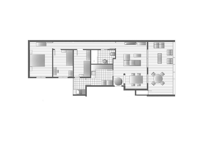 Plano del apartamento. Plan de l'appartement.