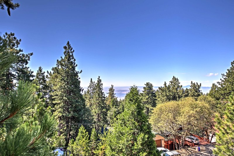 Only 30 minutes or less from the lake and ski areas, this cabin offers you the opportunity to explore all the best of Southern California!
