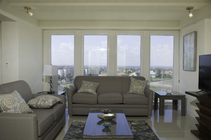 Must take advantage of the delightful bay view you get from our 7th floor. Basic cable available.