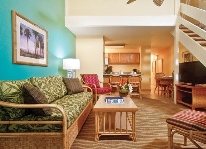 Wyndham Kaua'i Beach Villas Living Room