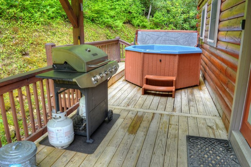 Gas Grill and Hot Tub on Private Back Deck