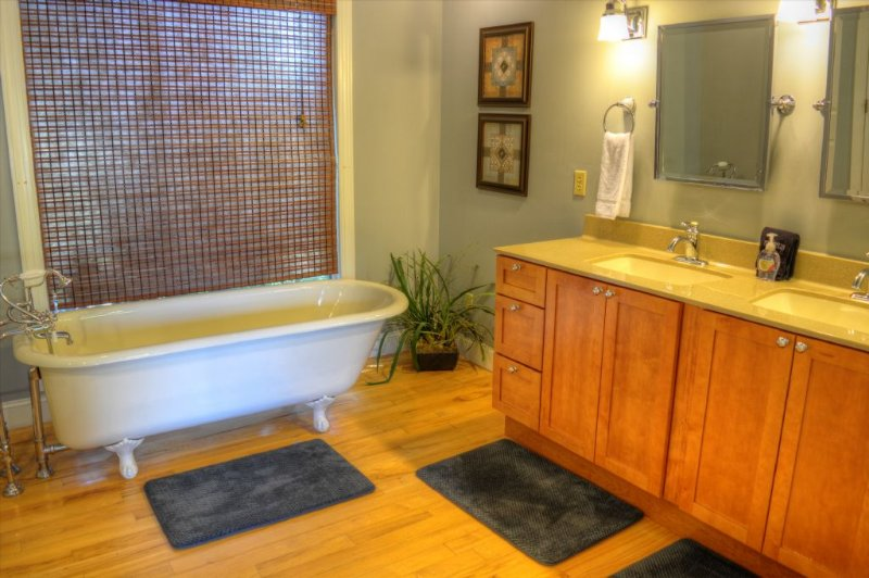 Remarkable Clawfoot Tub in Master Bathroom