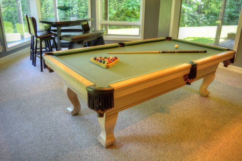 Another view of the full size pool table