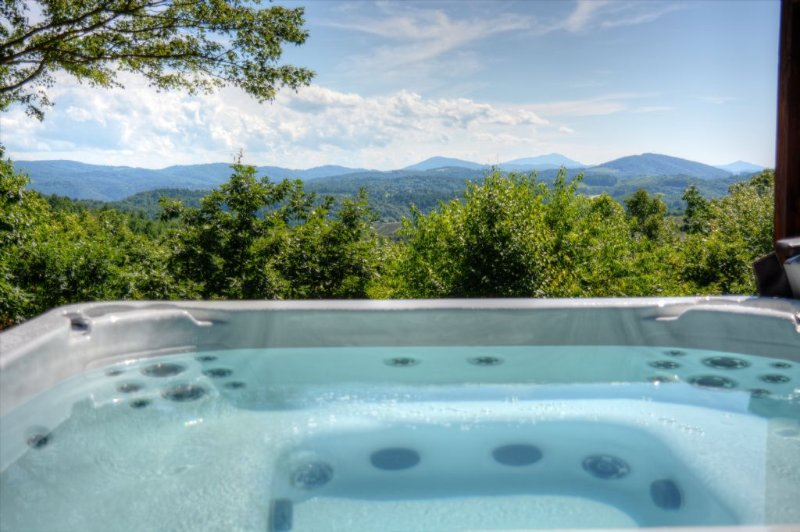 Spectacular Views from our Hot Tub