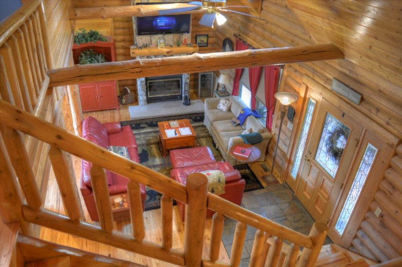 View of Living Room from Loft