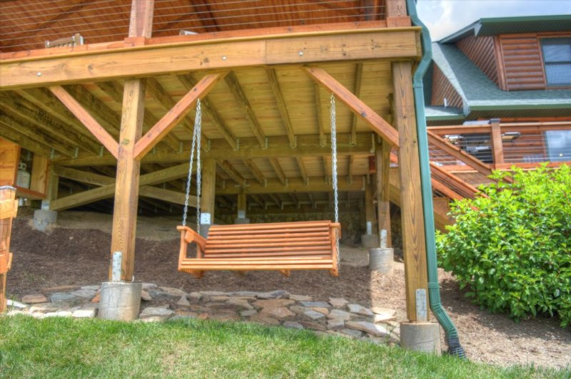 Porch Swing under back deck
