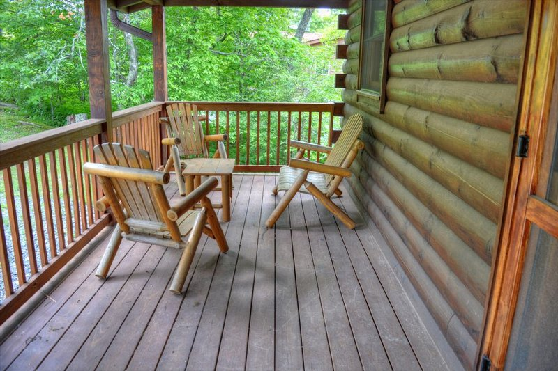Seating on Covered Front Deck