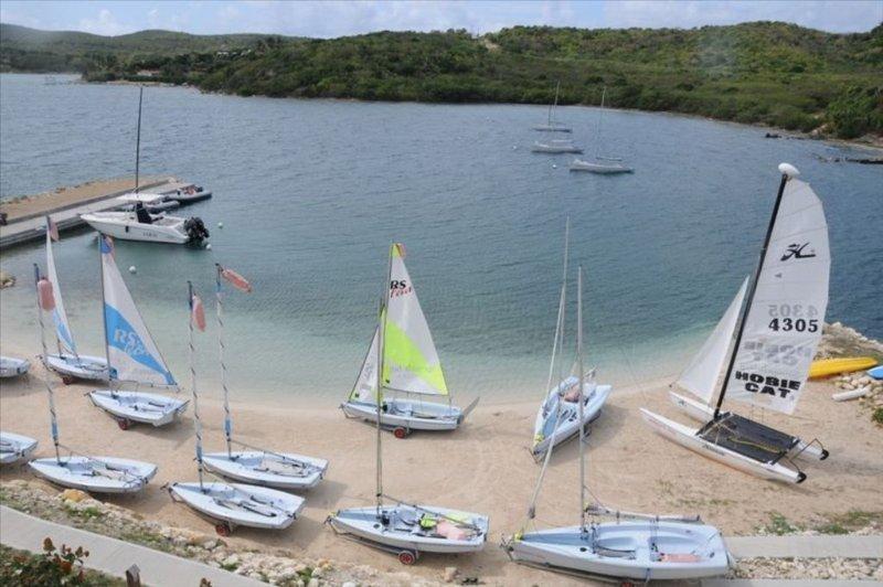 Sailing craft at the resort