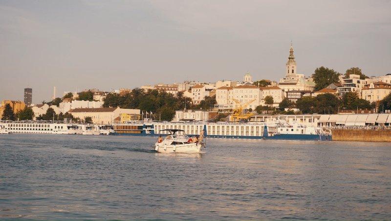 View of Karadjordjeva street from the river.