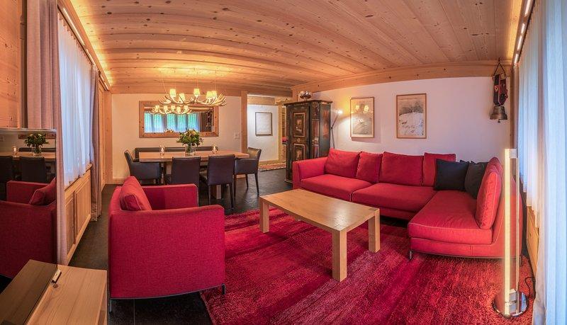 Les Silenes: New luxury 6 bed chalet apt. Gstaad, aluguéis de temporada em Gstaad