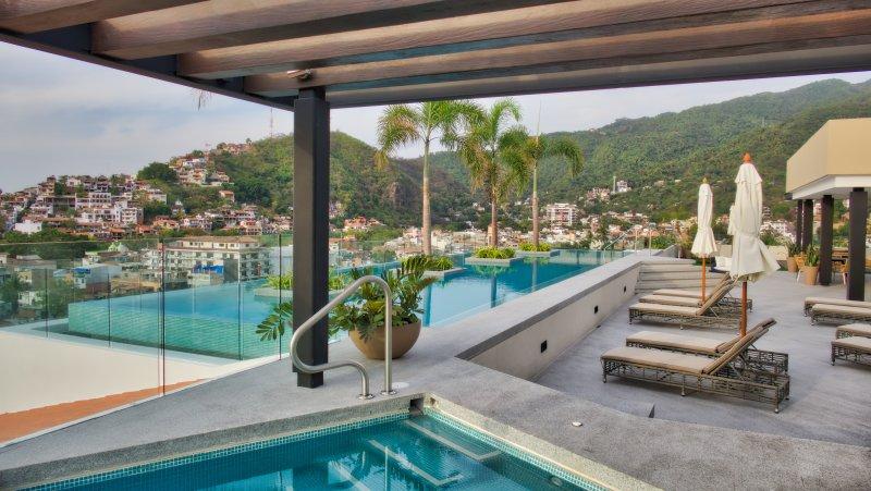 Rooftop pools