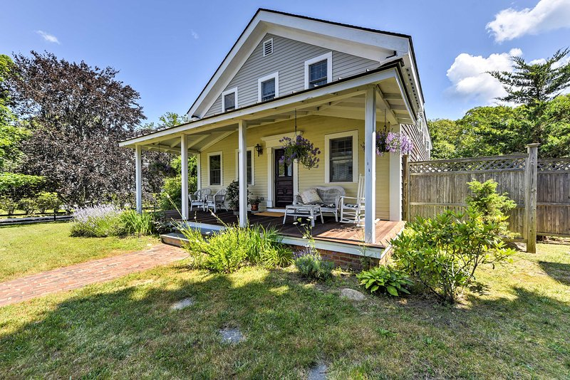 Soak in the rich history and beauty of Martha's Vineyard at this 4-bedroom, 2-bathroom vacation rental house in Oak Bluffs.