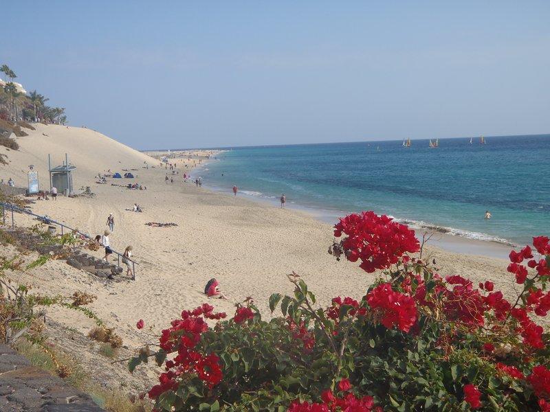 playa de Morro Jable, cerca del apartamento
