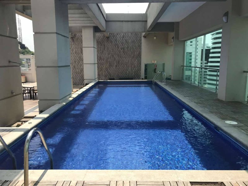 Pool on the 13th floor with beautiful view of the Guayas River and the city