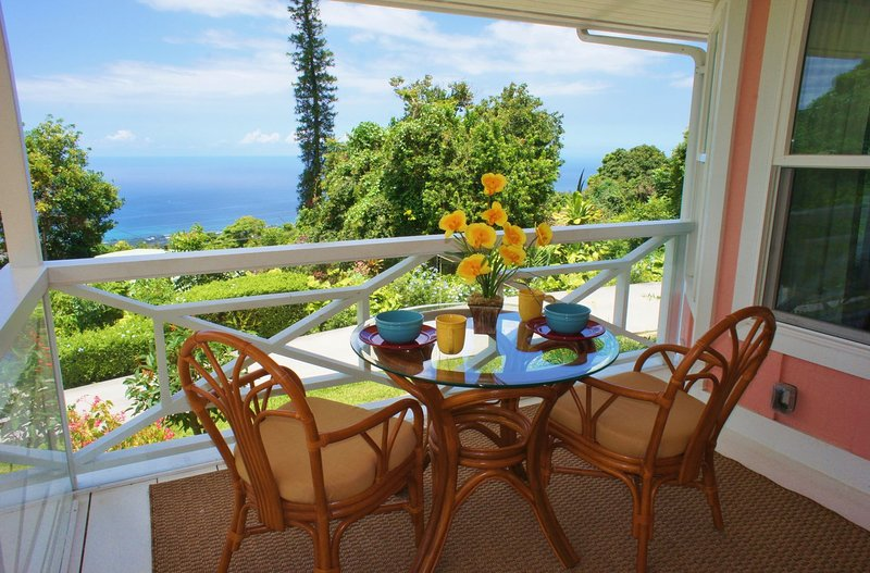 Great Ocean Views from Covered Lanai
