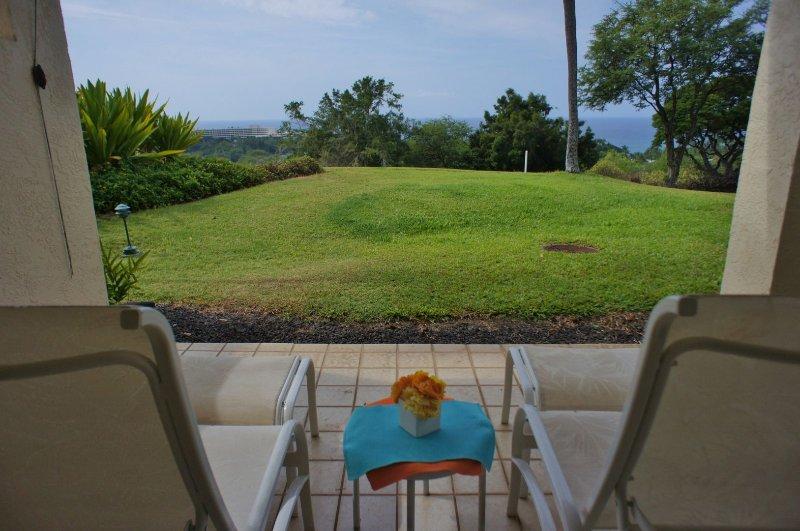 Lanai met uitzicht op de oceaan