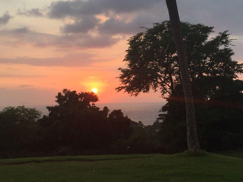Prachtige Kona-zonsondergang
