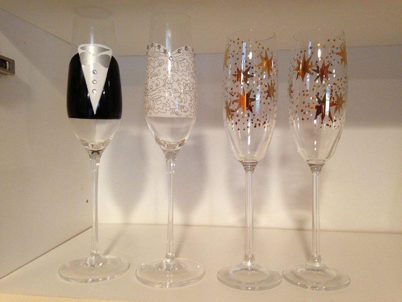 Flûtes à champagne de fête