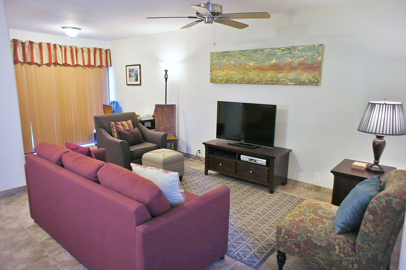 Living Area with Flat Screen