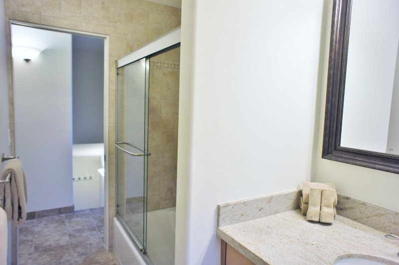 Bedroom 2 with Beautifully Tiled Bath and Shower