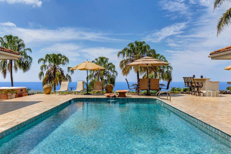 Grande piscine privée avec des vues spectaculaires sur l'océan!