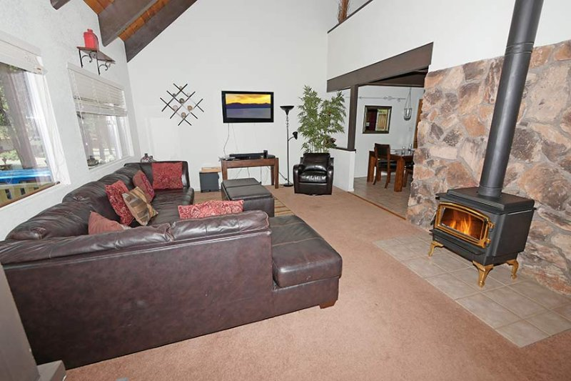Living Room -Spacious Ceilings, Open to Loft