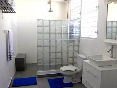 Master bedroom bathroom -Huge shower, 4'x5' with bench and seat!