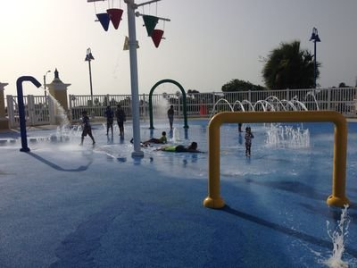 Splashpad less than 100 yards from the house